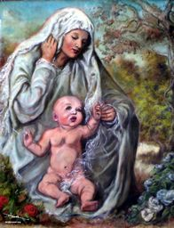 Madonna and Child in Meadow